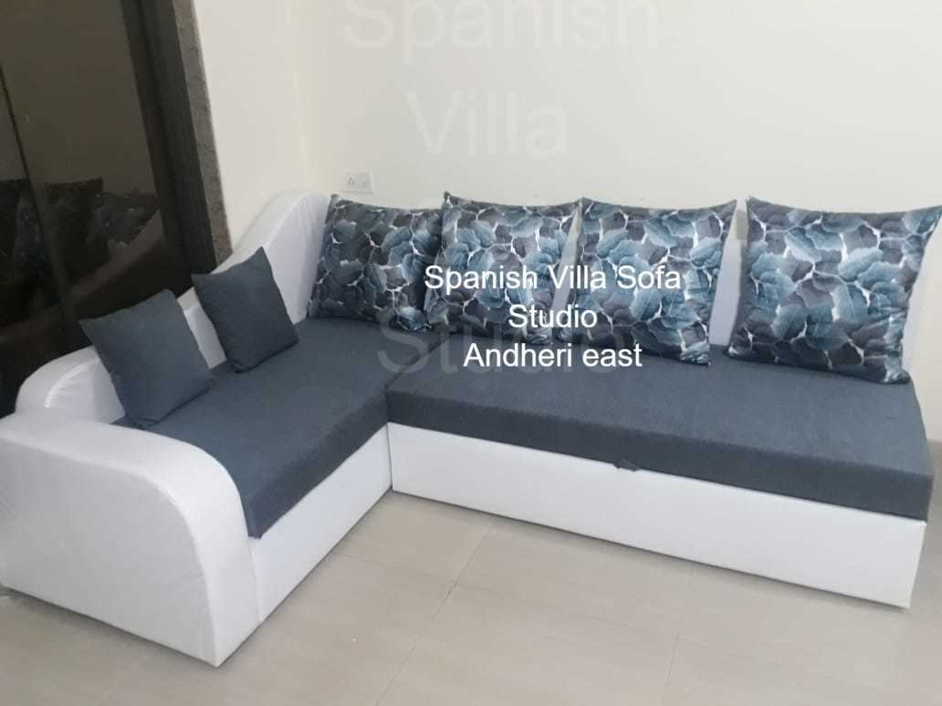 Fantastic design pattern of wooden sofa cum bed with storage,in fab.